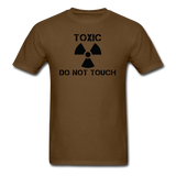 """Toxic Do Not Touch"" - Men's T-Shirt brown / S - LabRatGifts - 4"