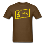 """May the Force Be With You"" - Men's T-Shirt brown / S - LabRatGifts - 6"