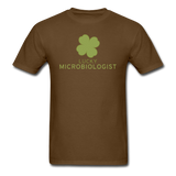 """Lucky Microbiologist"" - Men's T-Shirt brown / S - LabRatGifts - 4"