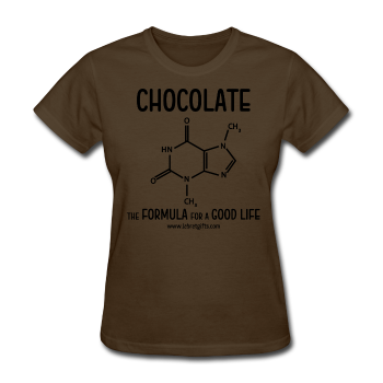 """Chocolate"" - Women's T-Shirt brown / S - LabRatGifts - 1"