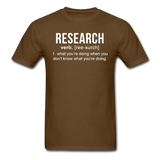 """Research"" (white) - Men's T-Shirt brown / S - LabRatGifts - 6"