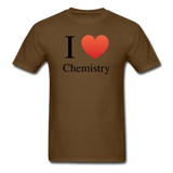 """I ♥ Chemistry"" (black) - Men's T-Shirt brown / S - LabRatGifts - 12"