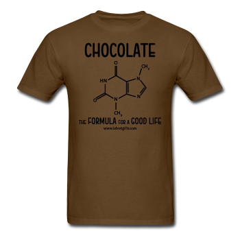 """Chocolate"" - Men's T-Shirt brown / S - LabRatGifts - 1"