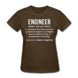 """Engineer"" (white) - Women's T-Shirt brown / S - LabRatGifts - 4"