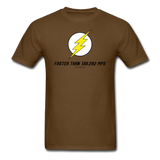 """Faster Than 186,282 MPS"" - Men's T-Shirt brown / S - LabRatGifts - 4"