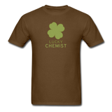 """Lucky Chemist"" - Men's T-Shirt brown / S - LabRatGifts - 11"