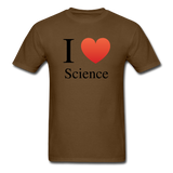 """I ♥ Science"" (black) - Men's T-Shirt brown / S - LabRatGifts - 9"