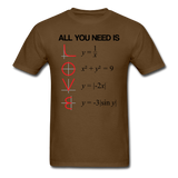 """All You Need is Love"" - Men's T-Shirt brown / S - LabRatGifts - 10"