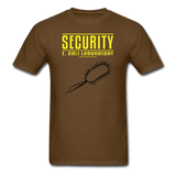 """Security E. Coli Laboratory"" - Men's T-Shirt brown / S - LabRatGifts - 4"