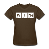 """WINe"" - Women's T-Shirt brown / S - LabRatGifts - 10"