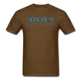"""-273.15 ºC is the Coolest"" (gray) - Men's T-Shirt brown / S - LabRatGifts - 10"