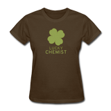 """Lucky Chemist"" - Women's T-Shirt brown / S - LabRatGifts - 4"