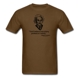 """Albert Einstein: T-Shirts Quote"" - Men's T-Shirt brown / S - LabRatGifts - 13"