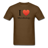 """I ♥ Microbiology"" (black) - Men's T-Shirt brown / S - LabRatGifts - 9"