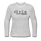 """I Ate Some Pie"" (black) - Women's Long Sleeve T-Shirt gray / S - LabRatGifts - 2"