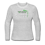 """Forget Lab Safety"" - Women's Long Sleeve T-Shirt gray / S - LabRatGifts - 2"