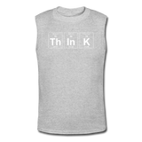"""ThInK"" (white) - Men's Muscle T-Shirt gray / S - LabRatGifts - 2"
