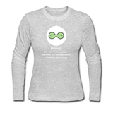 """Biology Division"" - Women's Long Sleeve T-Shirt gray / S - LabRatGifts - 2"
