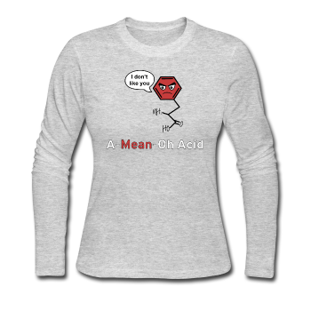 """A-Mean-Oh Acid"" - Women's Long Sleeve T-Shirt gray / S - LabRatGifts - 2"