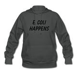 """E. Coli Happens"" (black) - Women's Sweatshirt asphalt / S - LabRatGifts - 3"