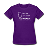 """Technically the Glass is Completely Full"" - Women's T-Shirt purple / S - LabRatGifts - 3"