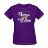 """Technically Alcohol is a Solution"" - Women's T-Shirt purple / S - LabRatGifts - 3"