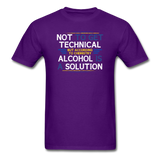 """Technically Alcohol is a Solution"" - Men's T-Shirt purple / S - LabRatGifts - 5"