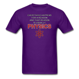 """Everything Happens for a Reason"" - Men's T-Shirt purple / S - LabRatGifts - 3"