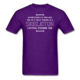"""Skeleton Inside Me"" - Men's T-Shirt purple / S - LabRatGifts - 5"