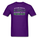 """Stand Back"" - Men's T-Shirt purple / S - LabRatGifts - 5"