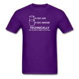 """Technically the Glass is Full"" - Men's T-Shirt purple / S - LabRatGifts - 4"