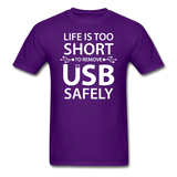 """Life is too Short"" (white) - Men's T-Shirt purple / S - LabRatGifts - 5"