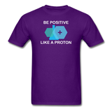 """Be Positive"" (white) - Men's T-Shirt purple / S - LabRatGifts - 4"