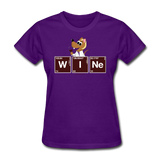 """Wine Periodic Table"" - Women's T-Shirt purple / S - LabRatGifts - 7"
