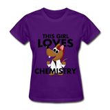 """This Girl Loves Chemistry"" (red) - Women's T-Shirt purple / S - LabRatGifts - 4"