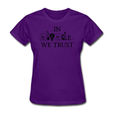 """In Science We Trust"" (white) - Women's T-Shirt purple / S - LabRatGifts - 10"