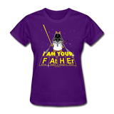 """I Am Your Father"" - Women's T-Shirt purple / S - LabRatGifts - 5"