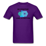 """Be Positive"" (black) - Men's T-Shirt purple / S - LabRatGifts - 7"