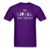 """In Science We Trust"" (white) - Men's T-Shirt purple / S - LabRatGifts - 5"