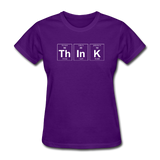 """ThInK"" (white) - Women's T-Shirt purple / S - LabRatGifts - 3"