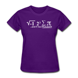 """I Ate Some Pie"" (white) - Women's T-Shirt purple / S - LabRatGifts - 4"
