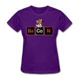 """Bacon Periodic Table"" - Women's T-Shirt purple / S - LabRatGifts - 8"