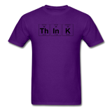 """ThInK"" (black) - Men's T-Shirt purple / S - LabRatGifts - 10"