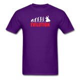 """Evilution"" - Men's T-Shirt purple / S - LabRatGifts - 3"