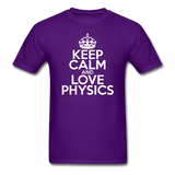 """Keep Calm and Love Physics"" (white) - Men's T-Shirt purple / S - LabRatGifts - 9"