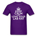 """Keep Calm and Love Your Lab Rat"" (white) - Men's T-Shirt purple / S - LabRatGifts - 9"