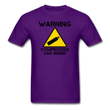 """Warning Compressed Gas Inside"" - Men's T-Shirt purple / S - LabRatGifts - 5"