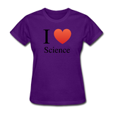 """I ♥ Science"" (black) - Women's T-Shirt purple / S - LabRatGifts - 9"