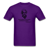 """Albert Einstein: T-Shirts Quote"" - Men's T-Shirt purple / S - LabRatGifts - 12"