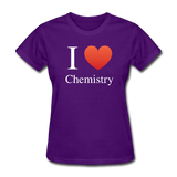 """I ♥ Chemistry"" (white) - Women's T-Shirt purple / S - LabRatGifts - 3"